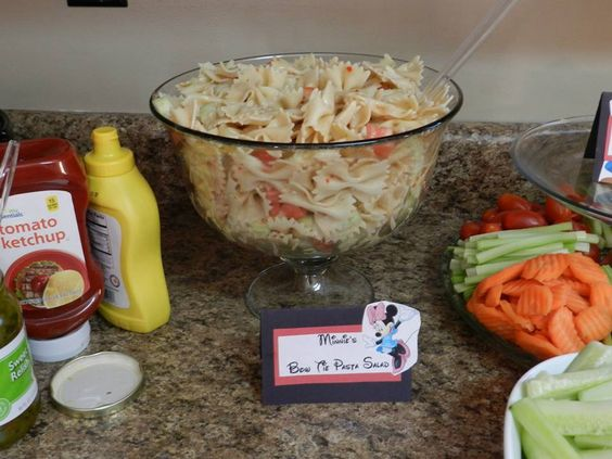 Mickey mouse pasta salad recipe