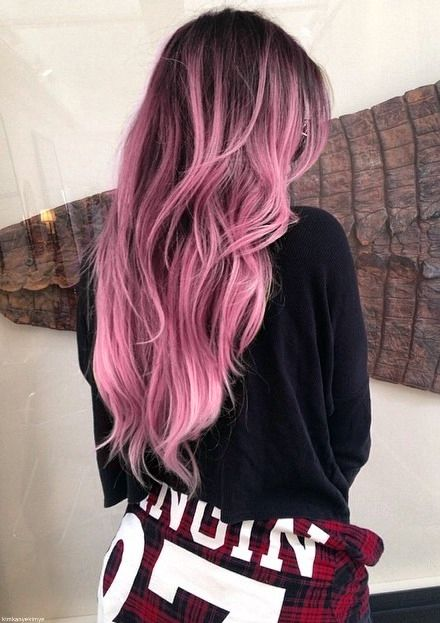 dark roots rose hair:
