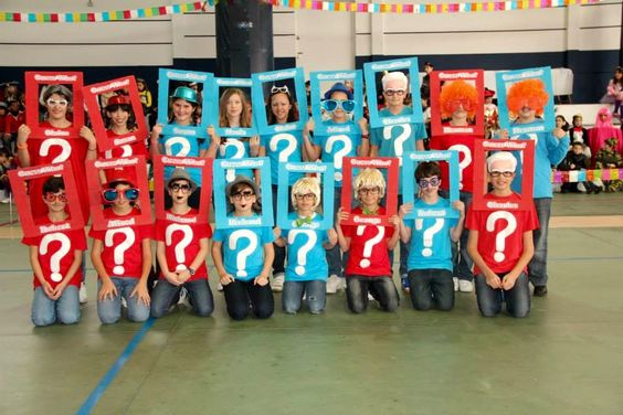 Guess Who? Group fancy dress costume