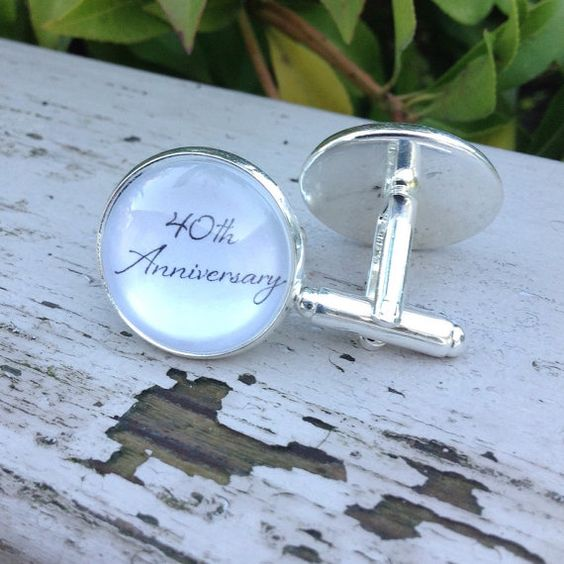 Anniversary gift for him 40th Anniversary by OverTheMoonBridal
