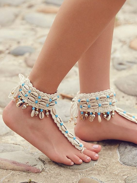 Zacasha High Seas Shell Barefoot Sandal at Free People Clothing Boutique