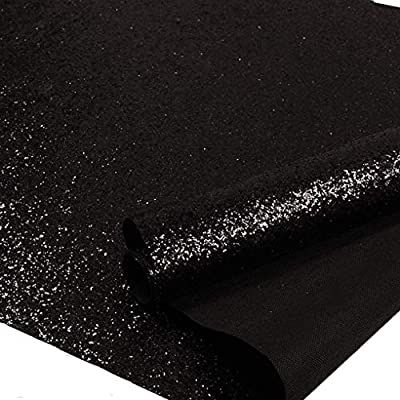 Self Adhesive Black Chunky Glitter Wallpaper Sparkle Glitter Fabric 17 4in X 16 4ft Blac Glitter Wallpaper Black Glitter Wallpapers Silver Glitter Wallpaper