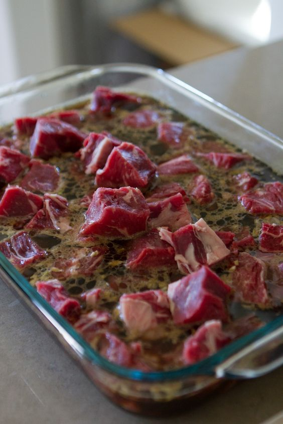 An easy and simple homemade meat marinade for summer! Made with soy ...