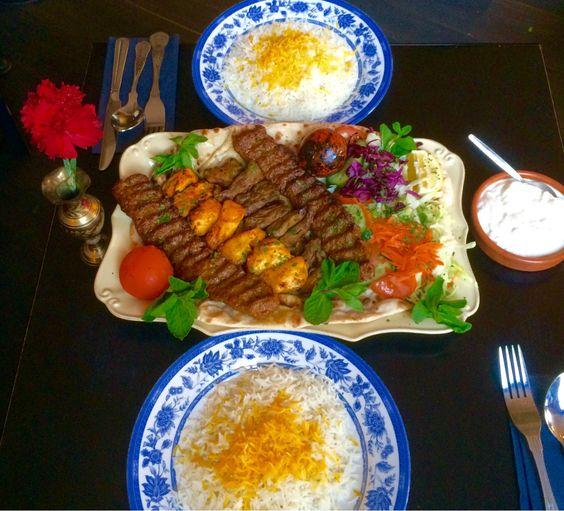 #sini #Persian #Iranian succulent #lamb #saffron #chicken . Celebrate #chaharshanbesuri and #norooz #party #food