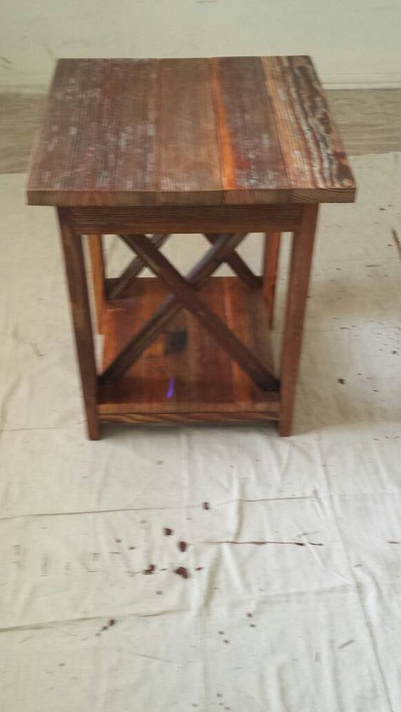 Table de ferme rustique par BSquaredWoodworking sur Etsy