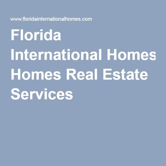 Florida International Homes Real Estate Services