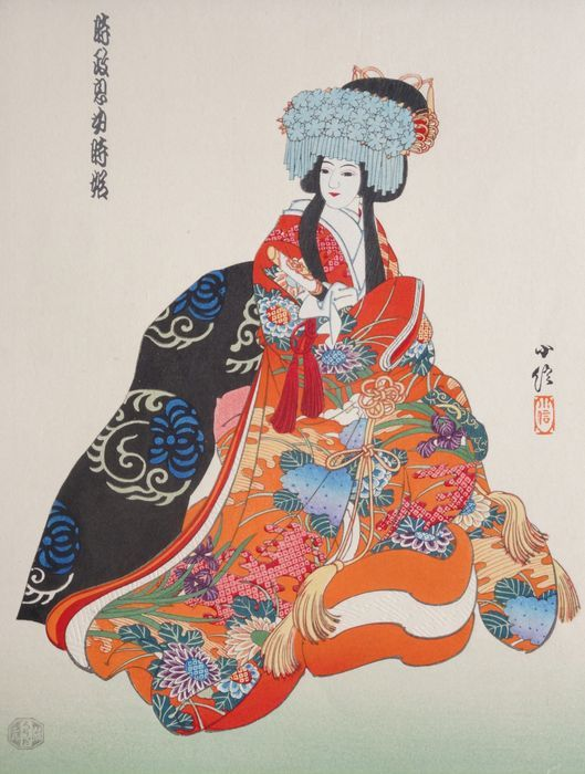 Sadanobu III Hasegawa (1881-1963) - Princess from the Bunraku theater - Japan - ca. 1950