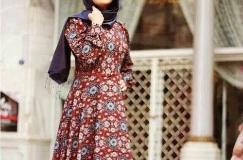 ميكساتك Fashion Hijab Fashion Long Sleeve Dress