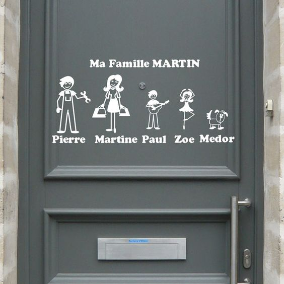 les stickers zousticks l image de votre famille sur votre porte stickers et avatar. Black Bedroom Furniture Sets. Home Design Ideas
