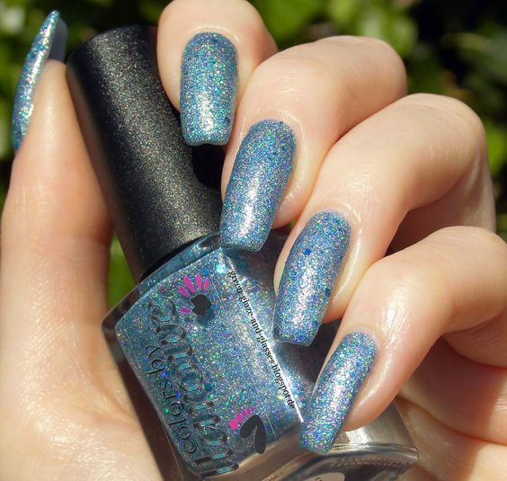 Green, Glaze & Glasses: Blue Saturday (Blue Friday) - Colors by Llarowe Turquoise Twinkle