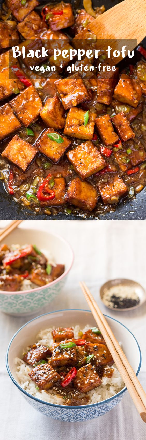 vegan black pepper tofu recipe. looks like a delicious way to add protein to a vegetarian diet!: