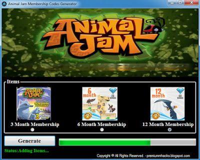 animal jam how to get membership codes
