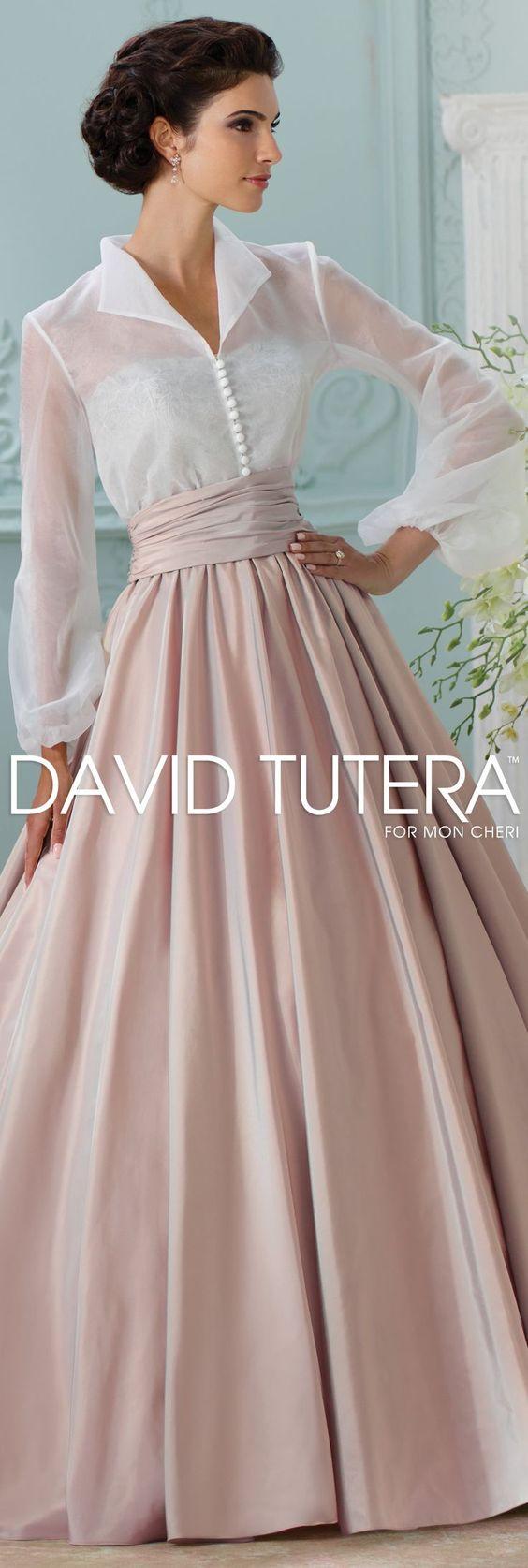 Love this unique three pieve taffeta lace #wedding #dress #set by @moncheribridals