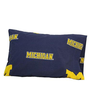 Take a look at this Michigan Pillowcase by College Covers on #zulily today!