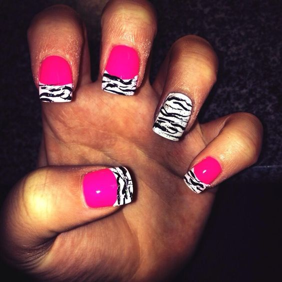 Hot pink and zebra print