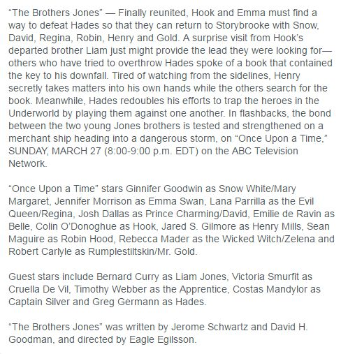 """OUAT 5X15 """"The Brothers Jones"""" Synopsis"""