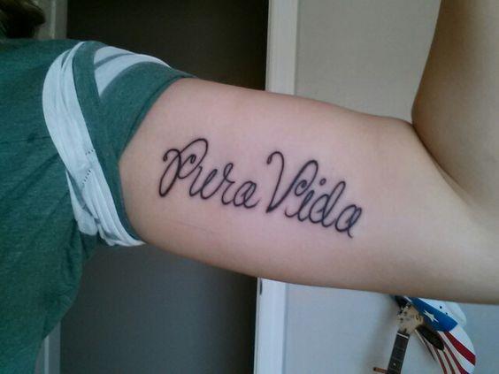 My pura vida tattoo #puravida #tattoos #tattoo #costa rica #puravidatattoo #upperarmtattoo #leftarmtattoo