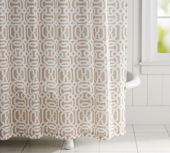 Terri Trellis Print Shower Curtain Printed Shower Curtain Vinyl