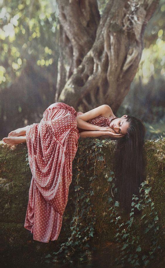 Forest maiden, medieval, fantasy: