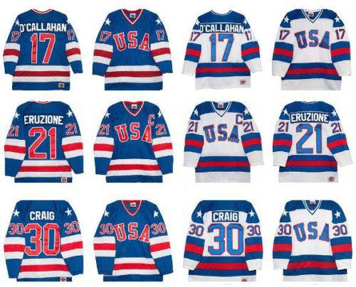1980 Miracle On Ice Team Usa Ice Hockey Jerseys 17 21 30 Hockey Jersey Usa Ice Hockey Jersey Hockey Jersey Ice Hockey