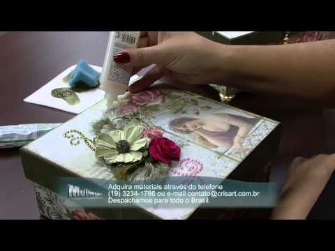Mulher.com 10/10/2014 - Caixa Scrap por Marisa Magalhães Parte 2 - YouTube