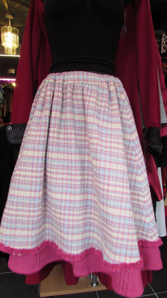 An #originalvintage #70s #1970s #maxiskirt layered with an apron like pattern. Very #homelyskirt and can imagine #grandmothersskirt in the 70s wearing one while baking a cake.