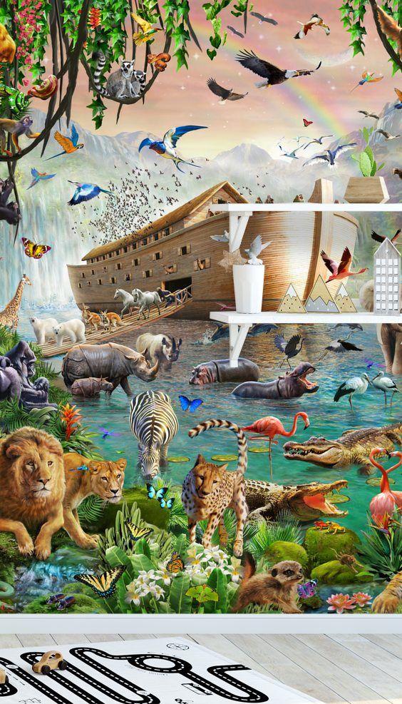 Adam /& Eve In Garden Of Eden Bible Torah Genesis Painting 8x10 Canvas Art Print