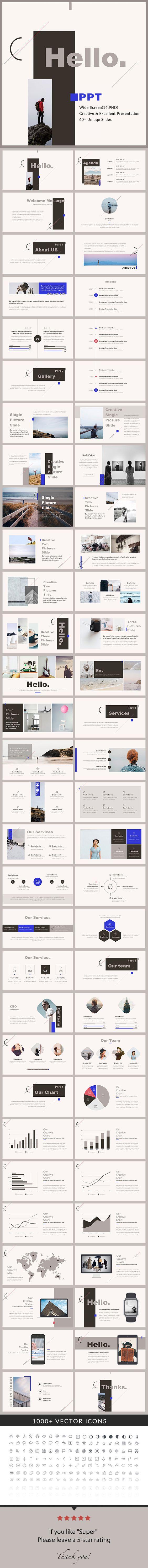 Hello - PowerPoint Presentation Template - Creative PowerPoint Templates