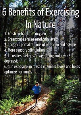 Excercise in nature ! It's the best.
