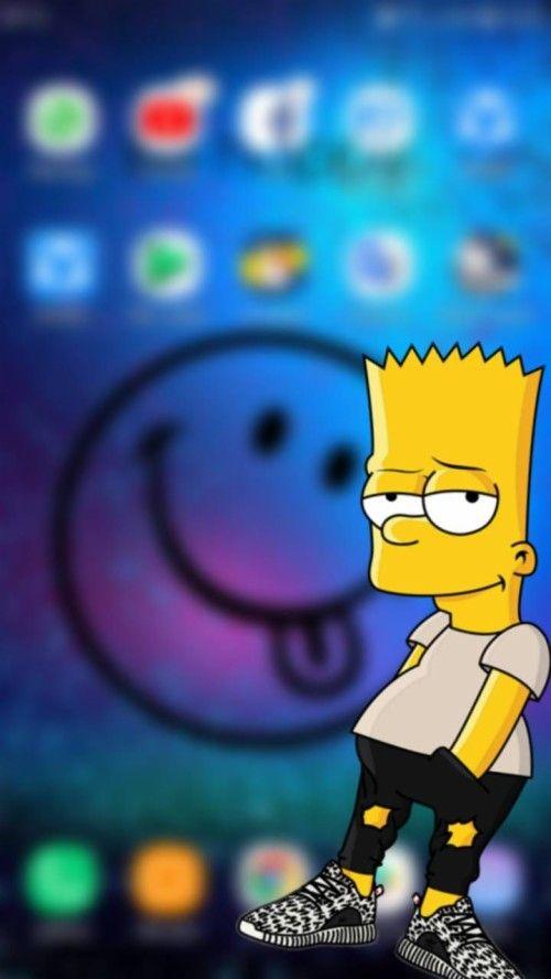Wallpaper Iphone Simpson Wallpapers Iphone 12 In 2020 Simpson Wallpaper Iphone Bart Simpson Tumblr Bart Simpson Art