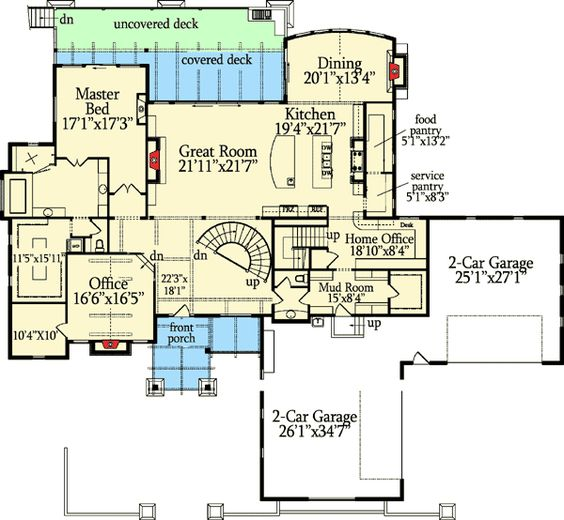 House plans craftsman and jack o 39 connell on pinterest Basement in law suite floor plans