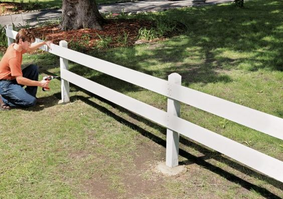 This is a short fence but it can help your kids at least get the idea not to go out of the yard. It also looks nice and helps to create a cute dividing line instead of a privacy fence.