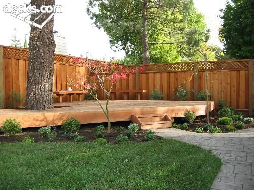 Low Elevation Deck Picture Gallery Outside Projects Pinterest - Small backyard corner landscaping