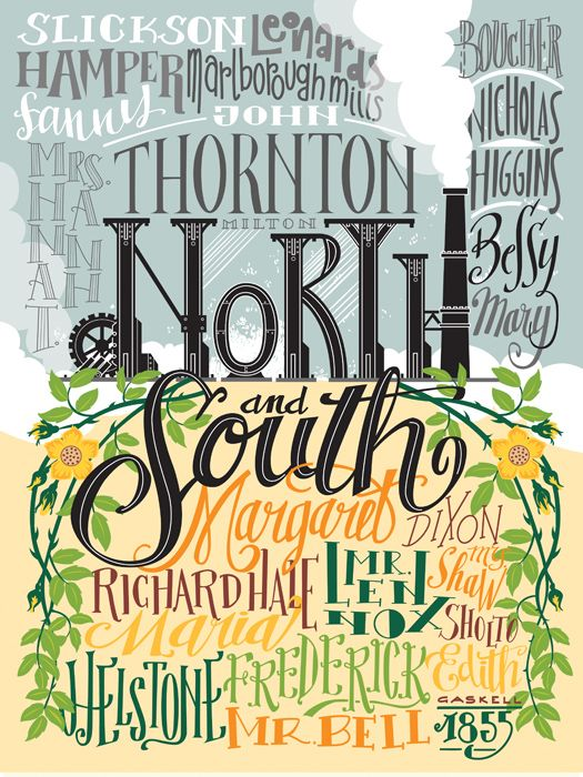 North & South - Poster by PemberleyPond - #elizabethgaskell #fanart: