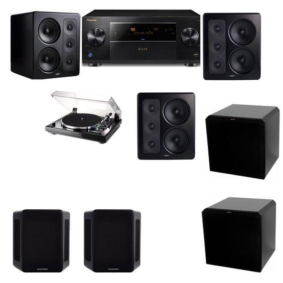 M&K Sound S300 Monitor Speaker 5.2 Thorens TD-240-2 HRS12 Pioneer Elite SC-89