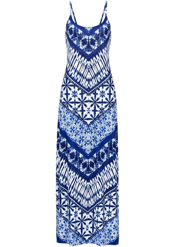 Bekijk nu:Van deze jurk krijg je meteen zomerkriebels! Lange jurk met geometrische print. Lengte in mt. 36/38 ca. 136 cm.