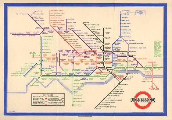 Harry Beck's 1933 map for London Underground. @_designjunction  via @wayneford