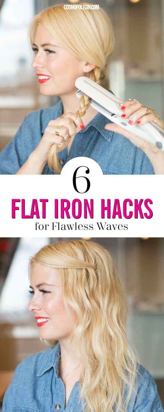 FLAT IRON HACKS FOR FLAWLESS WAVES: There's a high chance you own a flat iron and know that you can create waves with a straightener, but can't quite master *flawless* waves. Use these expert tips and easy hacks to make the most of your straightener. Click through to learn how to create waves with your straightener, how to create easy curls, and much more.