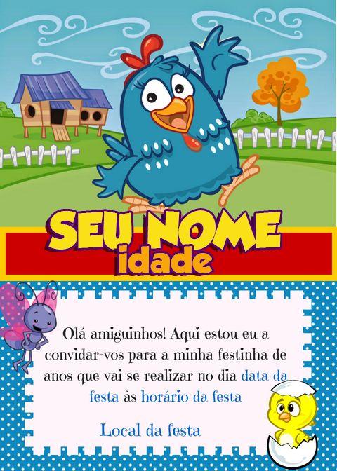 Convite Galinha Pintadinha Com Imagens Convite Galinha