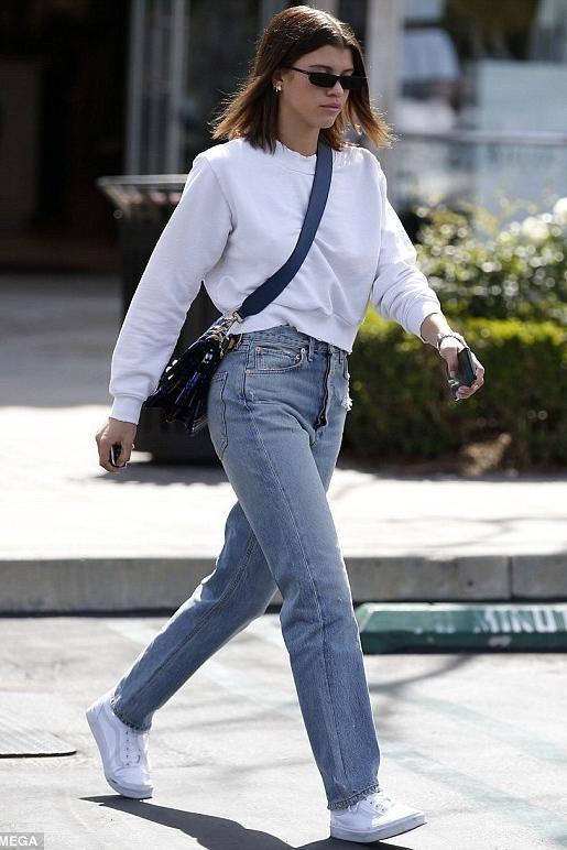 Sofia Richie wears Vans Old Skool Core Classics Sneakers