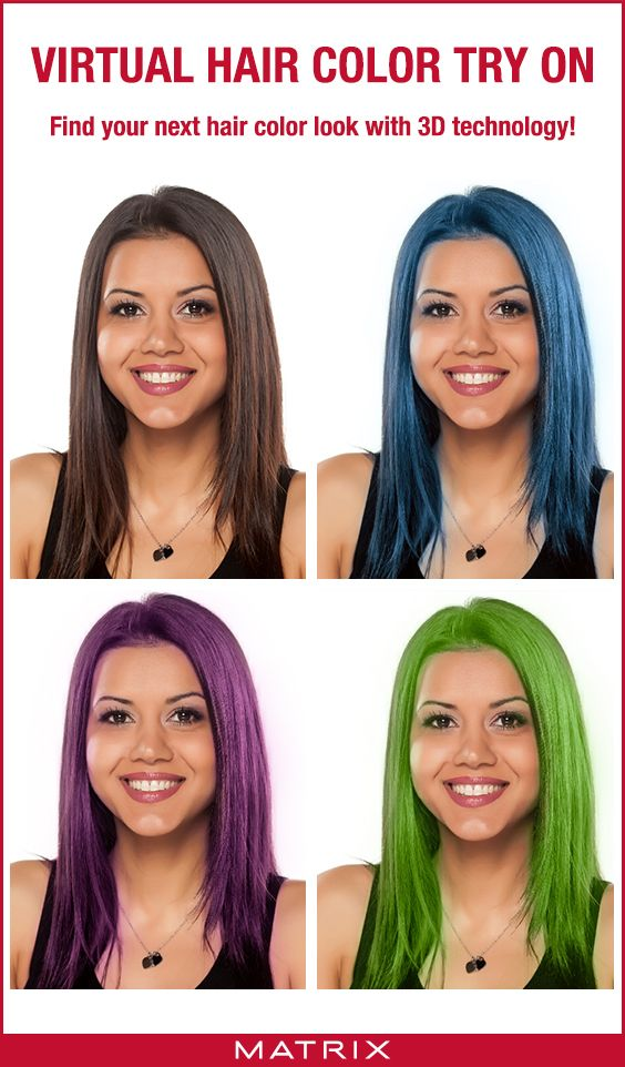 Matrix Virtual Hair Color Try On In 2020 Virtual Hair Color