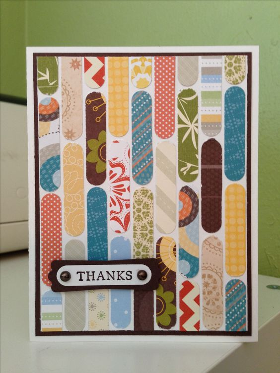 paper scraps + SUu0027s word window punch u003d a fun thank you card - how to make a thank you card in word