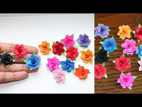 How To Make Small Paper Rose Flower Diy Handmade Craft Paper