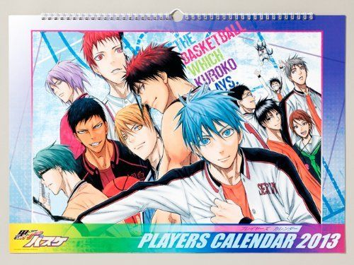 Japanese Anime Calendar 2013 Kuroko no Basuke