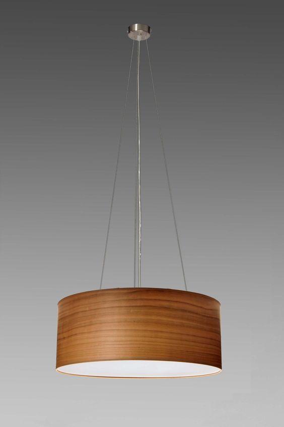 Pendelleuchte Kirsche Echtholzfurnier, 3xE27, Durchmesser 40, 50, 60 cm