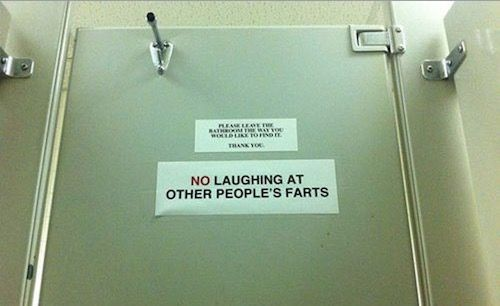 Bathroom Signs Walmart no laughing at other people's farts. walmart cracks down bathroom