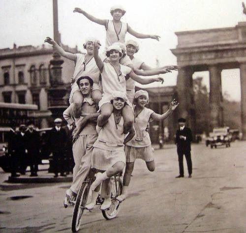 Ladies on bike