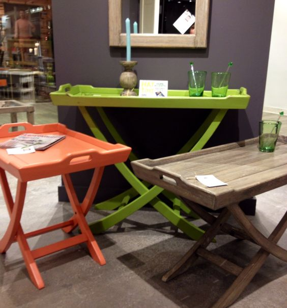 Chic + versatility = Trade Winds Furniture's Chedi console, side and coffee tables #HATtag #ATLmkt