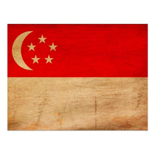 Singapore Flag Postcard Zazzle Com Singapore Flag Flag Flag Design