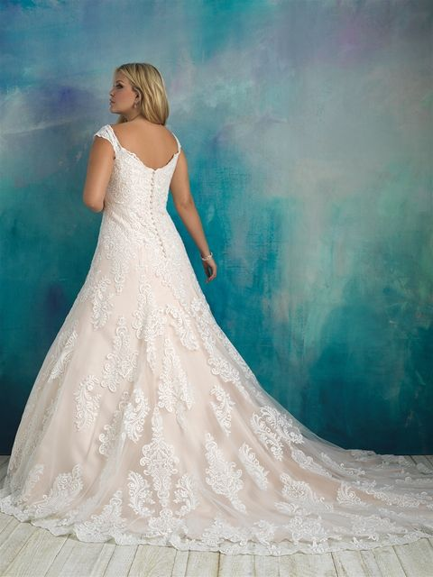W416 Allure Bridals Plus Size Bridal Available At Lulu S Bridal Boutique Lulu S Bridal Dall Allure Wedding Dresses Allure Bridal Plus Wedding Dresses